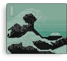 Katsushika Hokusai Electronic Circuit Board Canvas Print