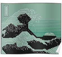 Katsushika Hokusai Electronic Circuit Board Poster