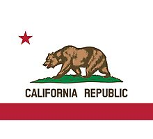 California Flag Photographic Print