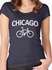 I Bike Chicago - Fixie Bike Design Women's Fitted Scoop T-Shirt