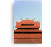 Temple roof Canvas Print