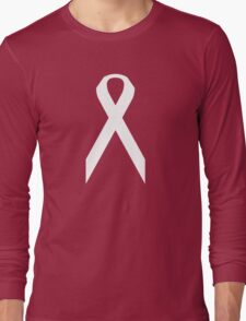 Lung Cancer Awareness ribbon Long Sleeve T-Shirt