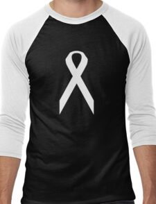 Lung Cancer Awareness ribbon Men's Baseball ¾ T-Shirt