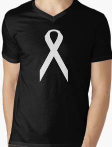Lung Cancer Awareness ribbon Mens V-Neck T-Shirt