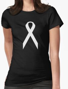 Lung Cancer Awareness ribbon Womens Fitted T-Shirt