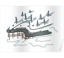 taiga path Poster