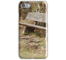 Old Bench at Castle Bourscheid iPhone Case/Skin