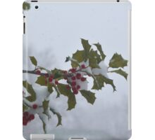 Snow on the holly iPad Case/Skin