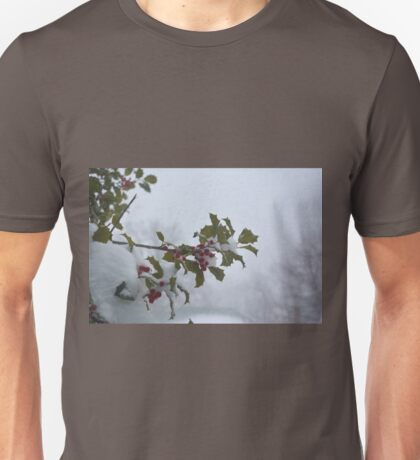 Snow on the holly Unisex T-Shirt