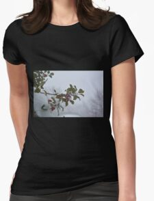 Snow on the holly Womens Fitted T-Shirt