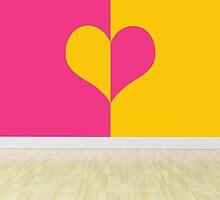 heart designing walls in empty room by thinkoddin