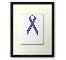 Pancreatic Cancer Awareness ribbon Framed Print