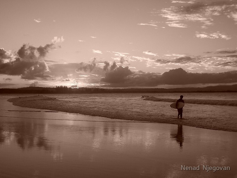 lonely surfer by Nenad  Njegovan