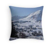 Swiss Snow Throw Pillow