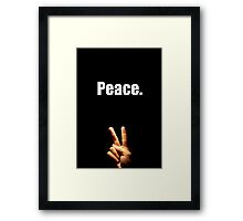 Peace. Framed Print
