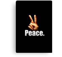 Peace. Canvas Print