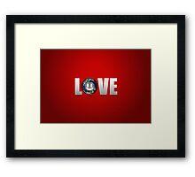 Love. Framed Print