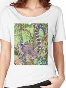 Lemur Sketch Women's Relaxed Fit T-Shirt
