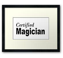 Certified Framed Print