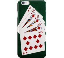 Poker Hands - Royal Flush Diamonds Suit iPhone Case/Skin
