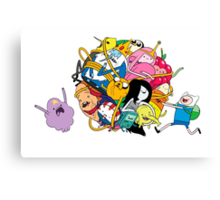 the adventure time mess Canvas Print