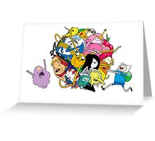 the adventure time mess Greeting Card