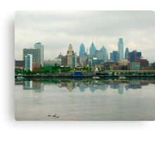 Philadelphia Skyline Post Card Canvas Print