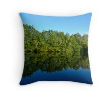 Lackford Lakes, Reflections 1 Throw Pillow