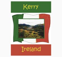 jGibney Ireland 1999 Kerry Lake District Kerry Ireland Flag T-Shirt wb The MUSEUM Red Bubble Gifts by TheMUSEUM