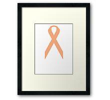 Uterine Cancer Awareness ribbon Framed Print