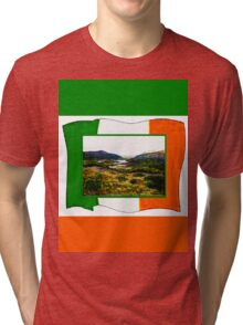jGibney Ireland 1999 Kerry Lake District Ireland Flag T-Shirt wb The MUSEUM Red Bubble Gifts Tri-blend T-Shirt