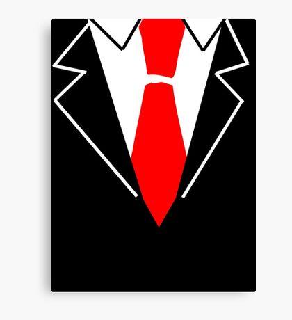 Red Tie Suit Canvas Print
