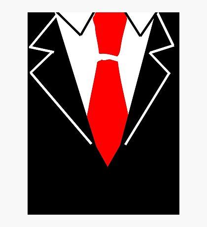 Red Tie Suit Photographic Print