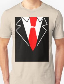 Red Tie Suit Unisex T-Shirt