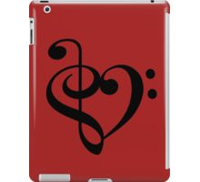 Treble-Bass heart iPad Case/Skin