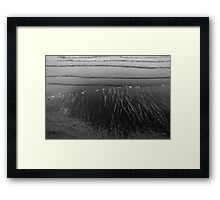 the water draws and erases Framed Print