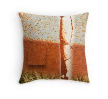 Wheat Shaman Throw Pillow