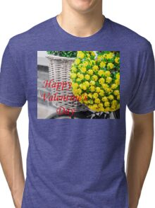 Happy Valentines Day greeting card Tri-blend T-Shirt