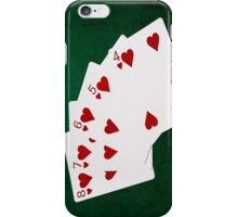 Poker Hands - Straight Flush Hearts Suit iPhone Case/Skin