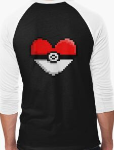 PokeHeart Men's Baseball ¾ T-Shirt
