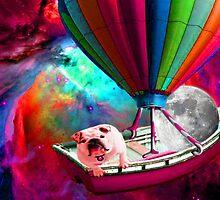 Galaxy Space Dog by Surrealfantasy