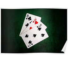 Blackjack 21 point - Eight, Eight, Five Poster