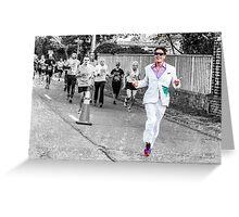 Running Man Greeting Card