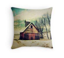 Little Sioux Corn Crib Throw Pillow