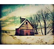 Little Sioux Corn Crib Photographic Print