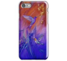 Hummingbirds in Purple iPhone Case/Skin