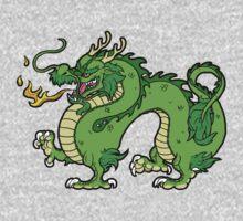Chinese Dragon - Green Kids Tee