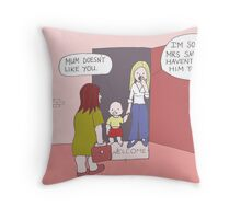 Taught to lie Throw Pillow