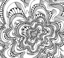 Roller Coaster Zentangle  by fay akers