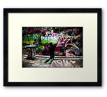 Color Coordinated-Graffiti  Melbourne Framed Print